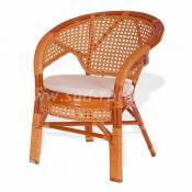 """Кресло плетеное """"Пеланги"""" (коньяк)"""