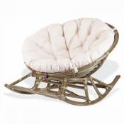 Плетеное кресло-качалка PAPASAN 23/03 (олива)