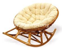 Плетеное креслo-качалка Papasan 23/03 (Kоньяк)