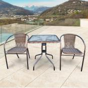 Комплект мебели для балкона Asol-2A (капучино)