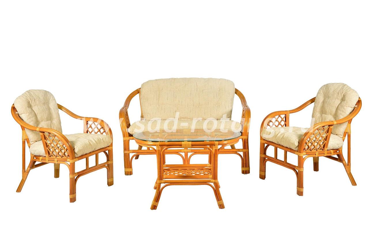 "Плетеный комплект мебели ""Маркос"" (коньяк)"