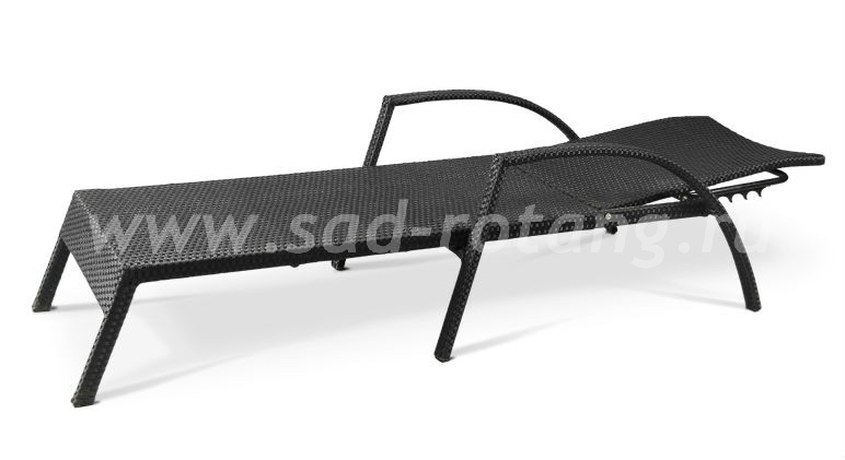 Плетеный шезлонг Afina А30размер Длина - 200 см, высота - 91 см, ширина - 70 см, цвет Черный