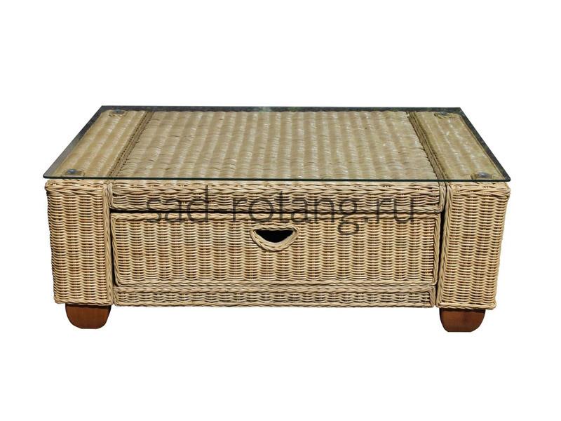 """Журнальный столик """"Calliope"""" (Индонезия), размер 680*540*470, цвет светло-коричневый"""