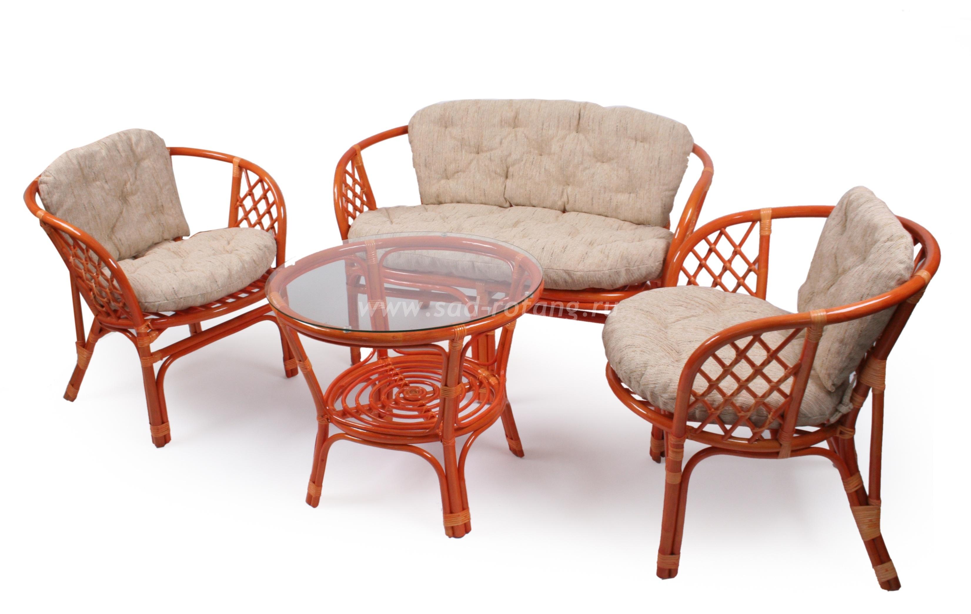 "Плетеный комплект мебели ""Багама"" (Коньяк)"
