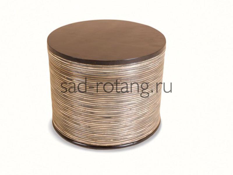 """Кофейный столик """"Optique"""" (Индонезия), размер 450*500, цвет коричневый"""