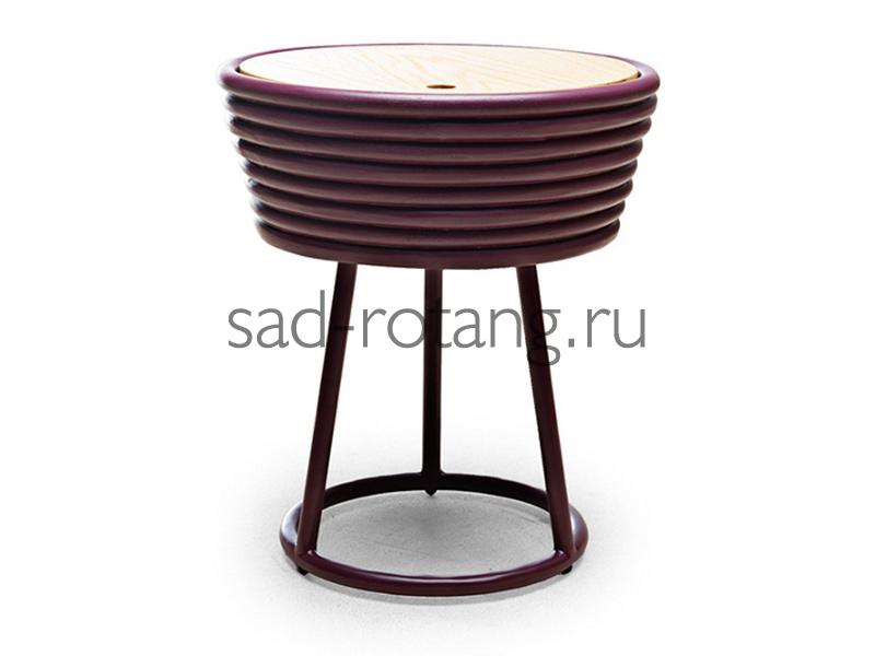 """Кофейный столик """"Podium"""" (Индонезия), размер 540*520, цвет чёрный"""