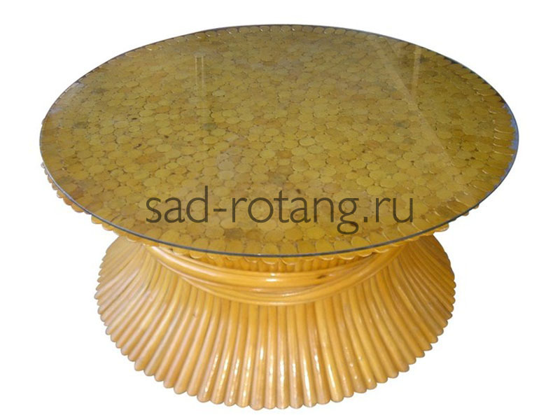 "Кофейный столик ""Soprano"" (Индонезия), размер 620*480, цвет жёлтый"
