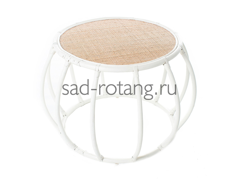 "Чайный столик ""Sphere"" (Индонезия), размер 550*480, цвет бежевый/белый"