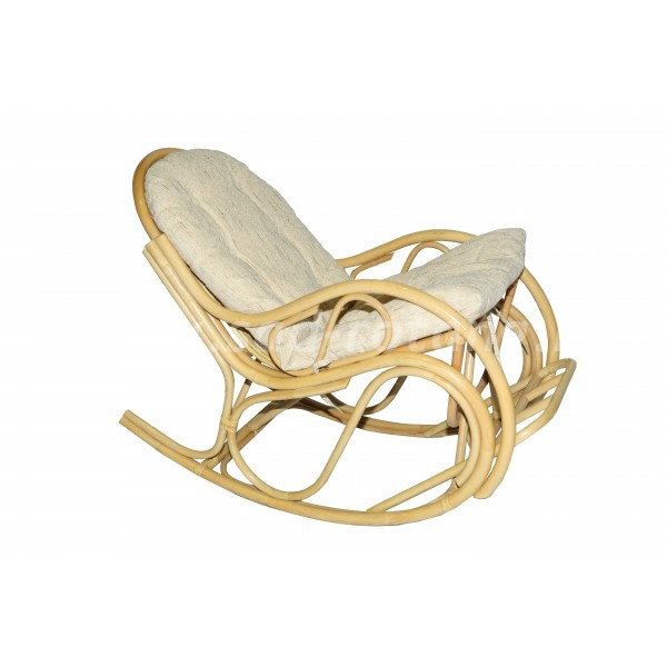 Кресло качалка из ротанга 05/17 (мёд) (Индонезия)