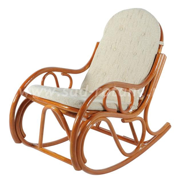 Плетеное кресло-качалка 05/04 (коньяк)
