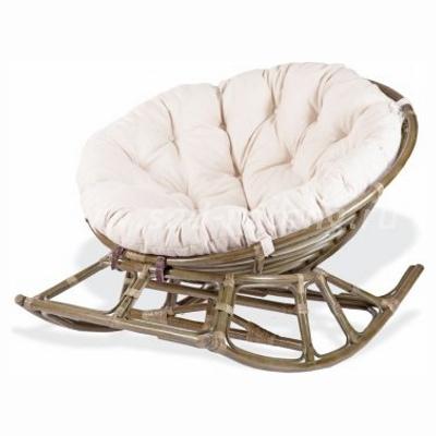 Плетеное кресло-качалка PAPASAN 23/03 (олива) (Индонезия)