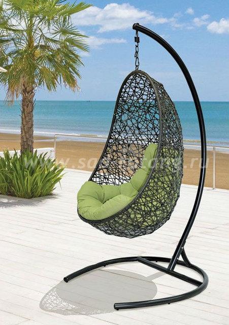 Кресло подвесное из искусственного ротанга Easy (Индонезия), цвет черный