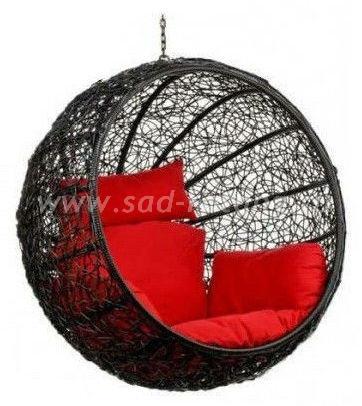 Кресло подвесное, шар Kokos Black BS (Индонезия), цвет черный