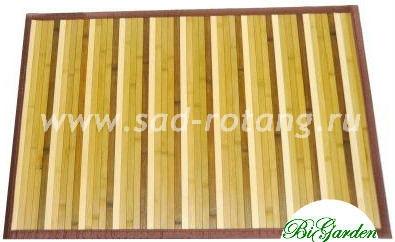 Коврик из бамбука 90х150 (Полосатый)
