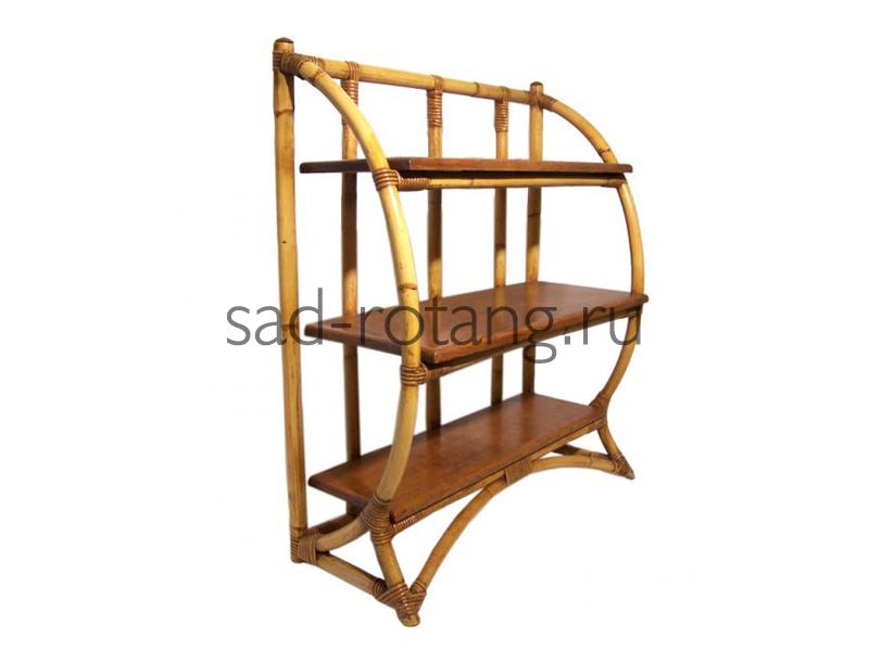 """Полка из ротанга """"Edgar"""" (Индонезия), размер 790*355*915, цвет коричневый/светло-коричневый"""