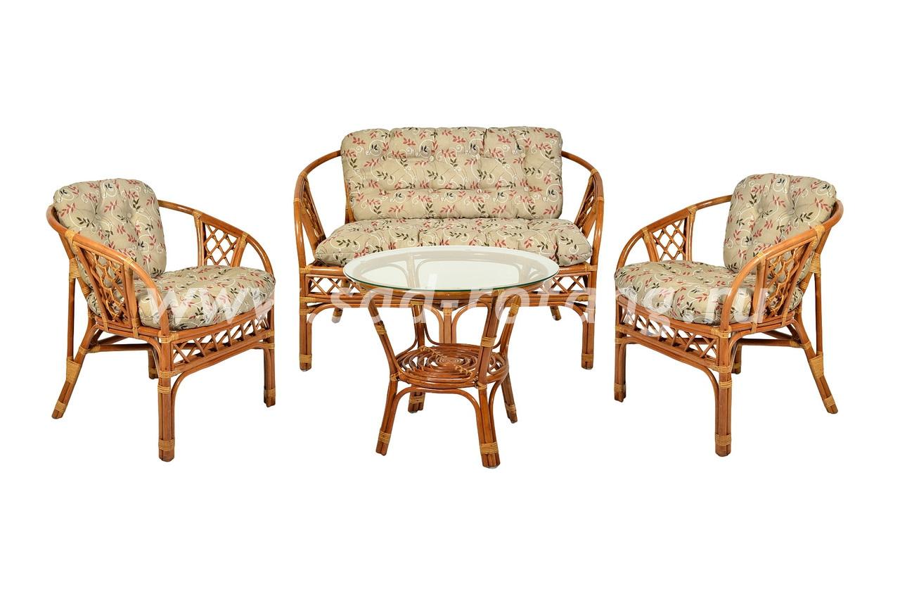 "Плетеный комплект мебели ""Аркадиа"" (коньяк)"