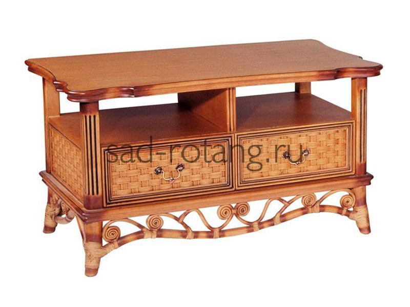 """Плетеный столик под телевизор """"Acapulco"""" (Индонезия), размер 1420*490*840, цвет коричневый"""