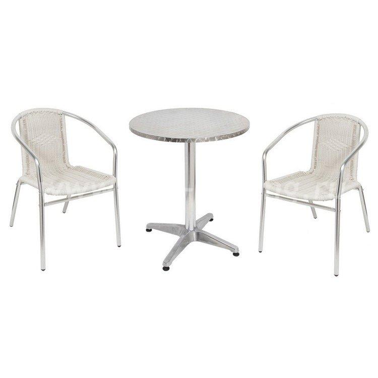 Комплект мебели для кафе 3094Aразмер Стул: высота - 74 см, ширина - 58 см, длина - 54 см <br/> Стол: диаметр - 60 см, высота - 70 см