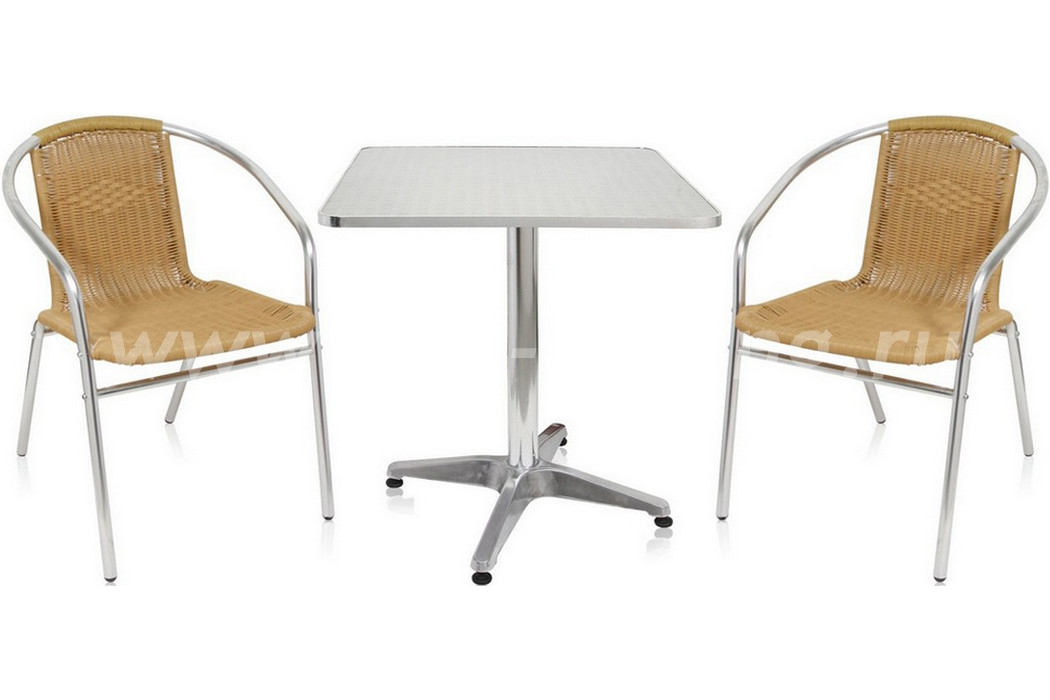 Комплект мебели 3094размер Стул: высота - 74 см, ширина - 58 см, длина - 54 см <br/> Стол: диаметр - 60 см, высота - 70 см