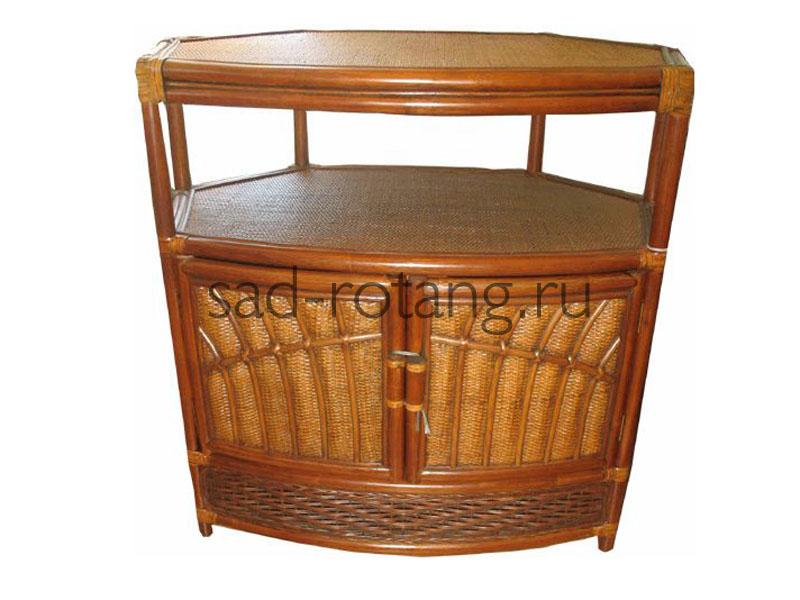 """Столик под телевизор """"Exposa"""" (Индонезия), размер 1050*1050*770, цвет коричневый"""