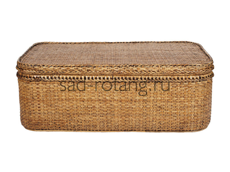 """Сундук из ротанга с крышкой """"Bradford"""" (Индонезия), размер 450*890*455, цвет коричневый"""