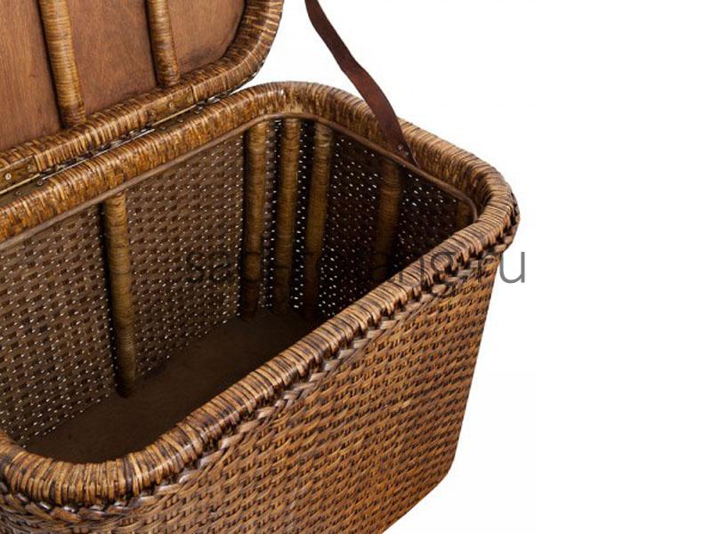 """Сундук плетеный """"Lancaster"""" (Индонезия), размер 400*700*420, цвет темно-коричневый"""