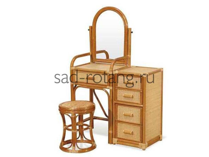 """Туалетный столик """"Kelly"""" (Индонезия), размер 400*760*1360, цвет коричневый"""