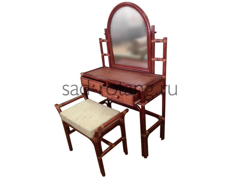"""Туалетный столик """"Madonna"""" (Индонезия), размер 400*1460*760, цвет красно-коричневый"""