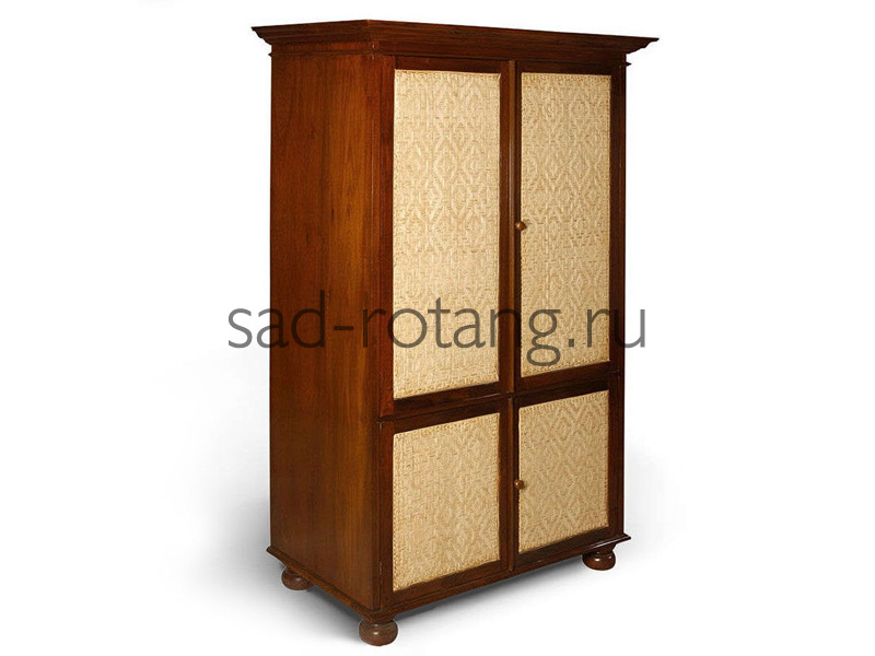 """Шкаф в прихожую """"Opticon"""" (Индонезия), размер 1020*550*1800, цвет коричневый/светло-коричневый"""