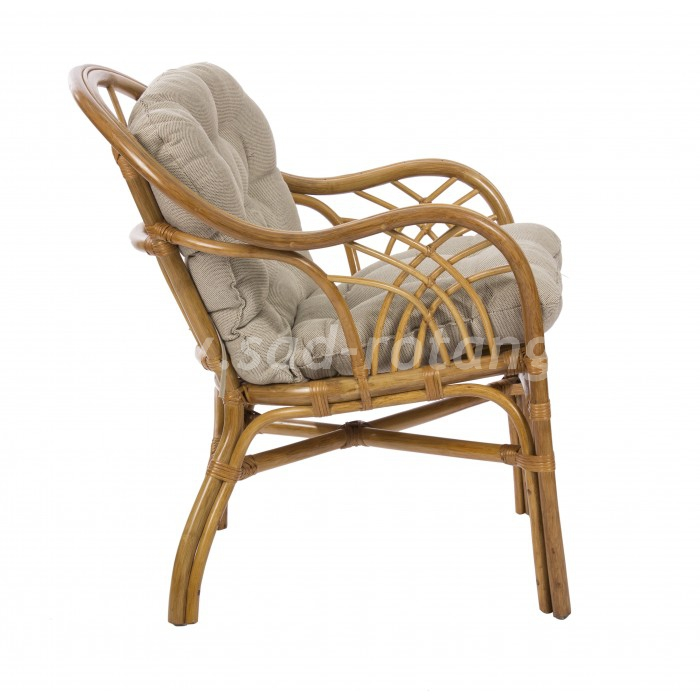 Кресло Roma (мёд) (Индонезия), размер Высота - 85 см.<br/> Глубина - 80 см. <br/> Ширина - 70 см.