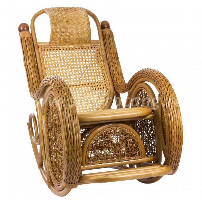 Кресло-качалка Twist Alexa (коньяк) (Индонезия)