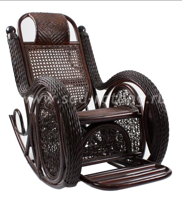 Кресло-качалка Twist Alexa (венге) (Индонезия), размер Высота - 110 см.<br/> Глубина - 125 см. <br/> Ширина - 68 см.