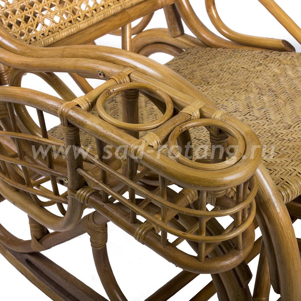 Кресло-качалка Coral Nova (мёд) (Индонезия), размер Ширина - 74 см.<br/>Глубина - 120 см.<br/> Высота - 106 см.