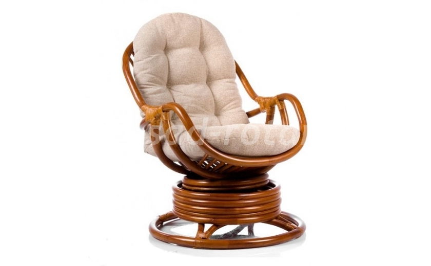 Кресло-качалка Kara (коньяк) (Индонезия), размер Высота - 90 см. <br/> Глубина - 90 см. <br/> Ширина - 67 см