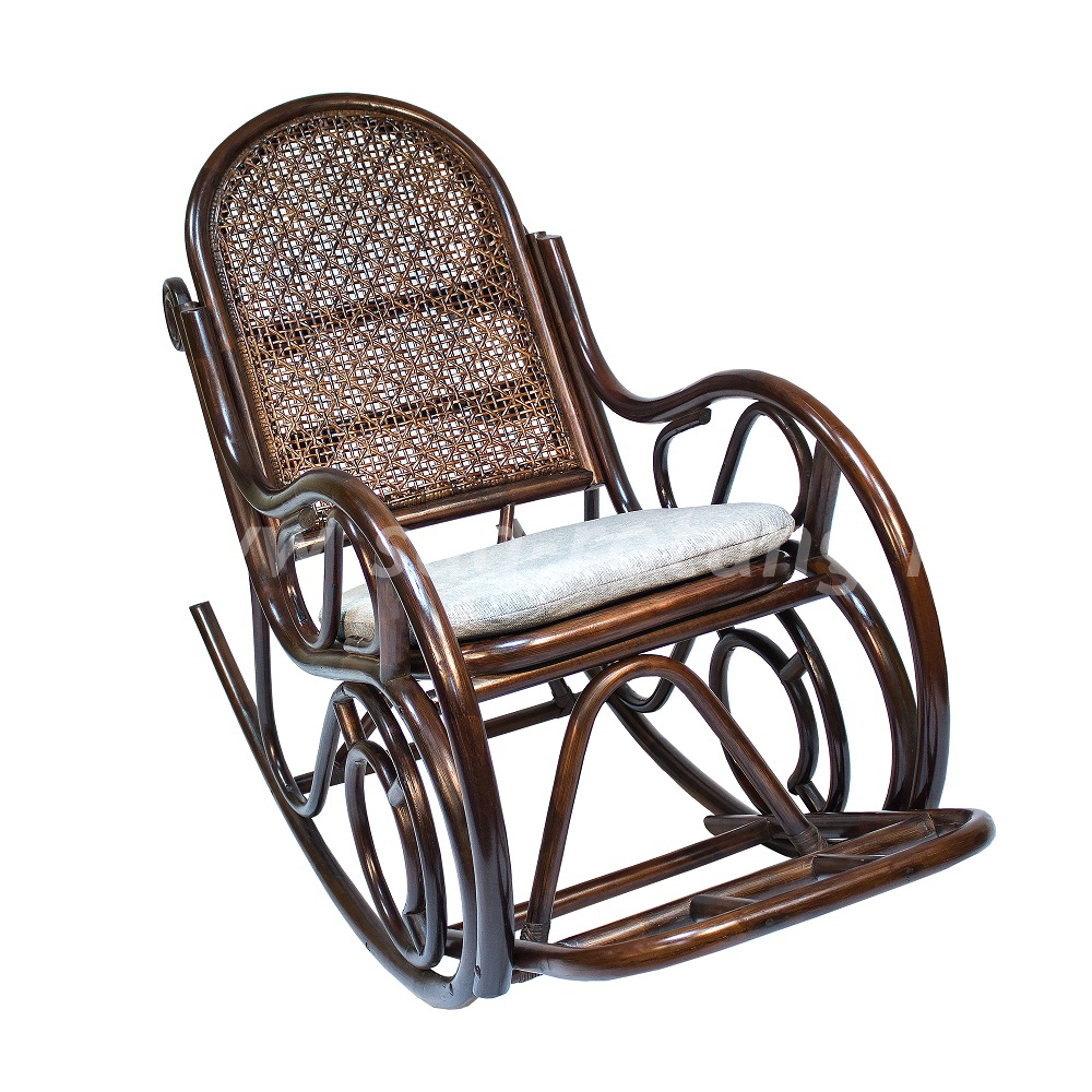 Кресло-качалка Moscow (браун) (Индонезия), размер Высота - 110 см. <br/> Глубина - 90 см. <br/> Ширина - 80 см.
