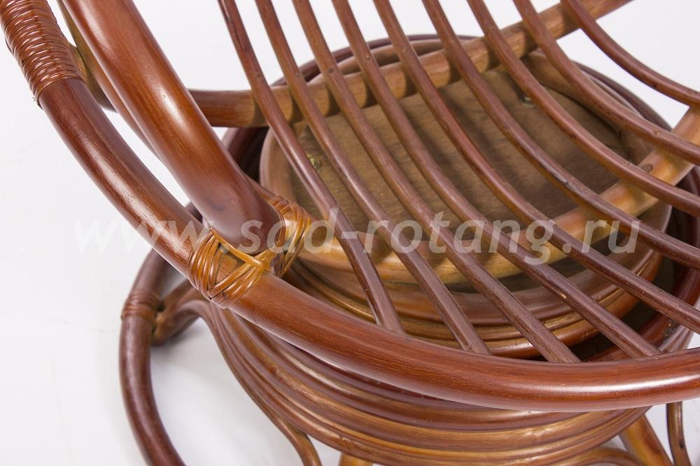 Кресло-качалка Swivel Rocker (коньяк) (Индонезия), размер Высота - 100 см. <br/> Глубина - 87 см. <br/> Ширина - 76 см.