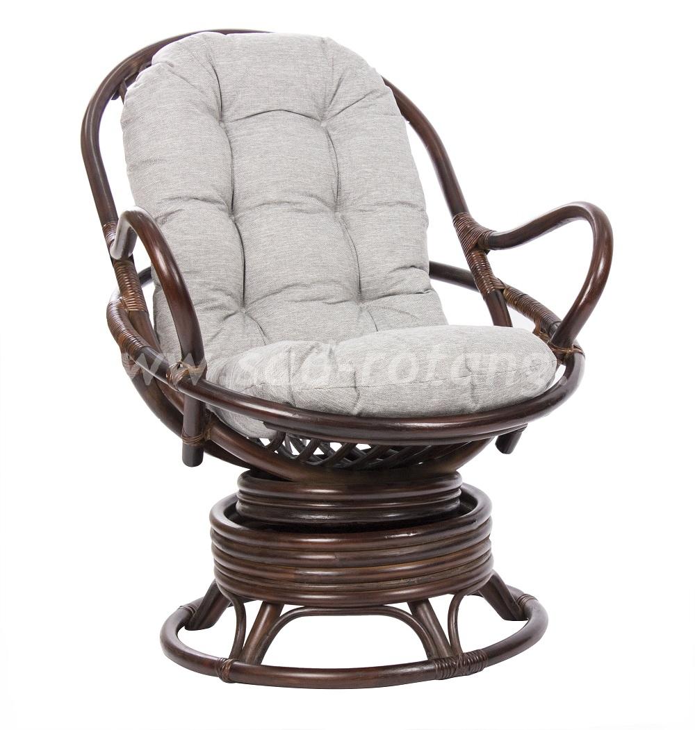 Кресло-качалка Swivel Rocker (браун) (Индонезия), размер Высота - 100 см. <br/> Глубина - 87 см. <br/> Ширина - 76 см.