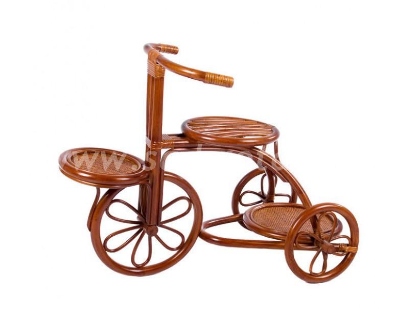 Подставка для цветов Bicycle Planter 004.013 (коньяк) (Индонезия), размер Ширина - 80 см. <br/> Глубина - 41 см. <br/> Высота - 60 см.