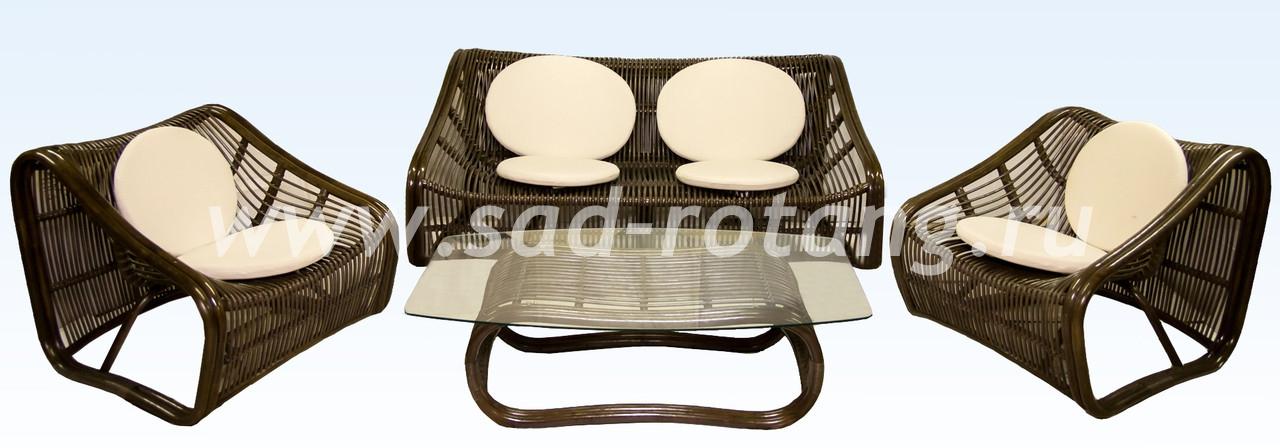 """Плетеный комплект мебели """"Свинг"""" (браун)"""