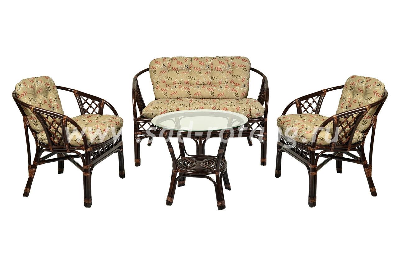 "Комплект мебели из натурального ротанга ""Аркадиа"" (браун)"