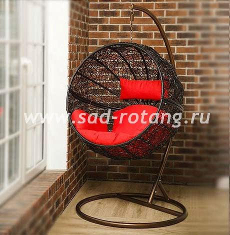 """Плетеное подвесное кресло """"Kokos Black"""""""