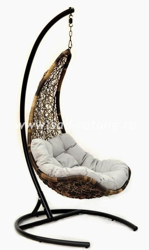 """Подвесное кресло - качели """"Wind"""" из искусственного ротанга"""
