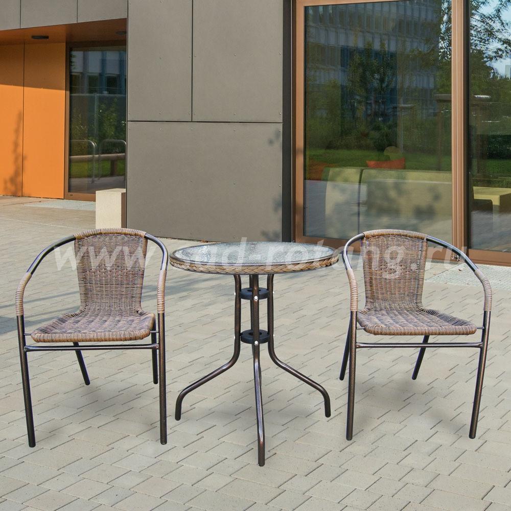 Комплект мебели для балкона Asol-1A (капучино)