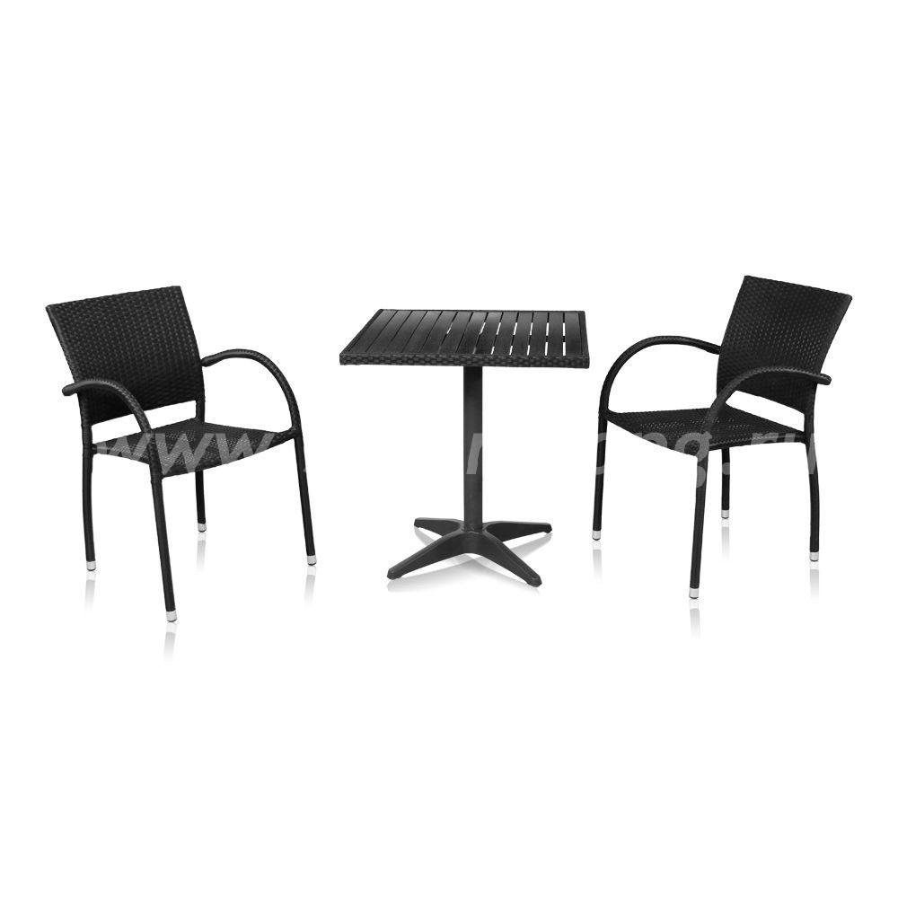 Комлект мебели для балкона Siena-2 (черный)
