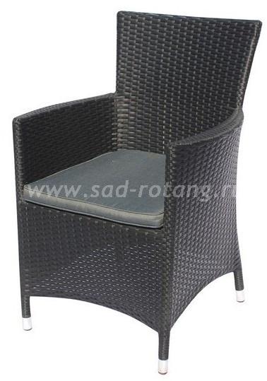 Кресло из искусственного ротанга Y189Dразмер Высота - 87 см, ширина - 60 см, глубина - 63 см , цвет Черный