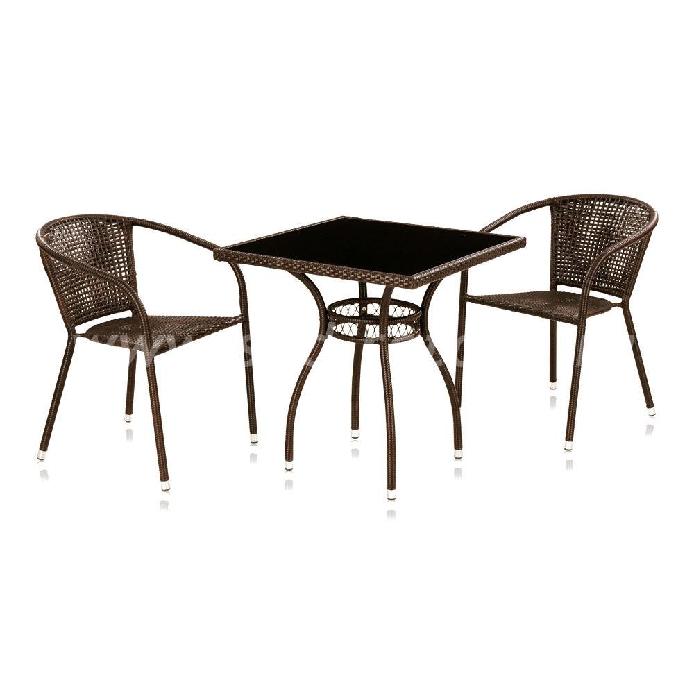 Комплект мебели из искусственного ротанга Milton-2цвет Темно-коричневый