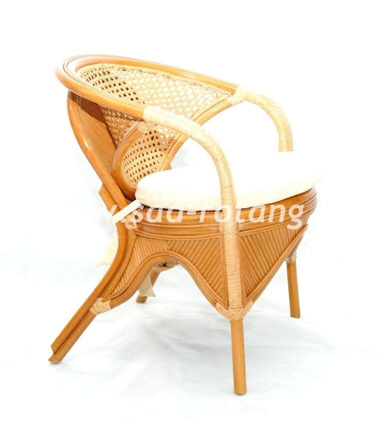 """Плетеное кресло """"Rainbow"""" (коньяк)"""