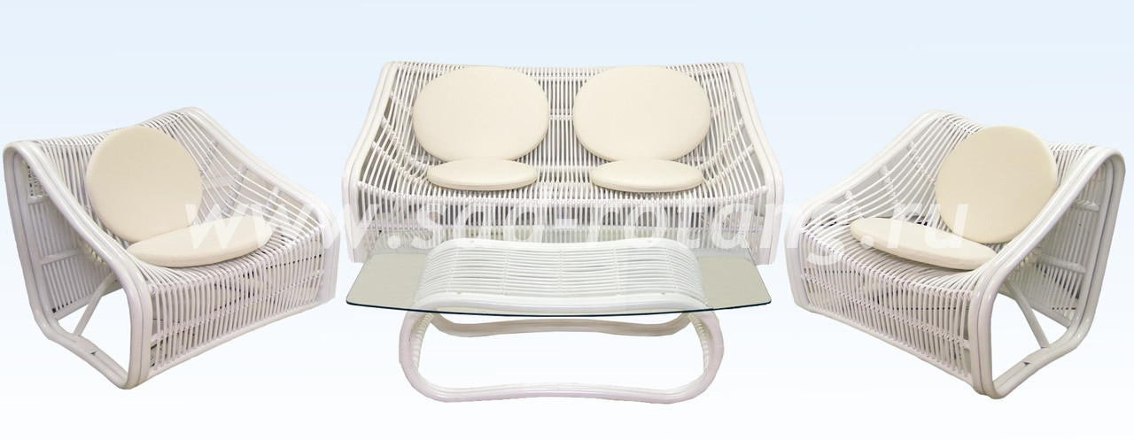 "Плетеный комплект мебели ""Свинг"" (белый)"