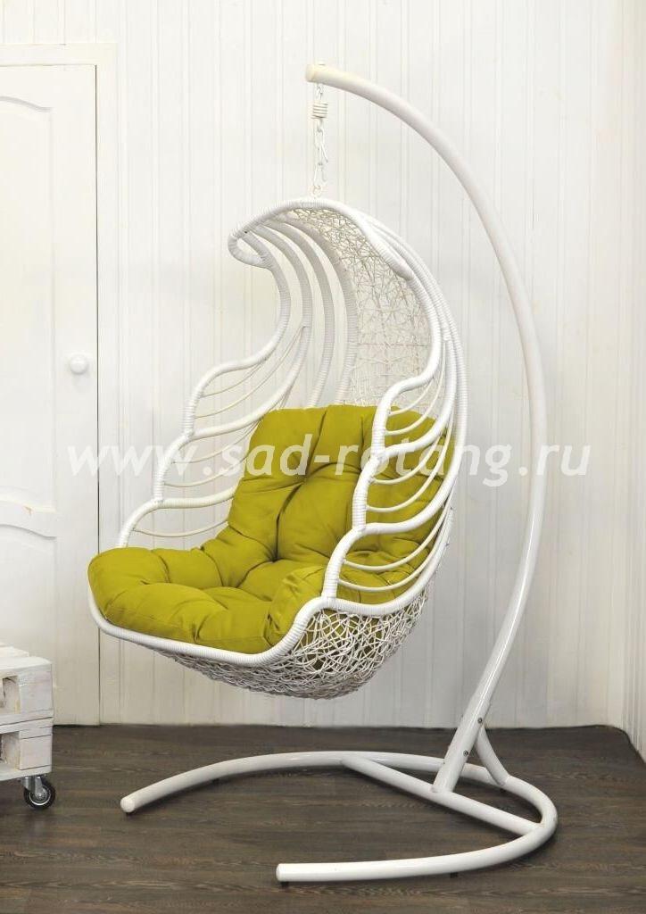 """Подвесное кресло - качели из искусственного ротанга """"Shell"""""""