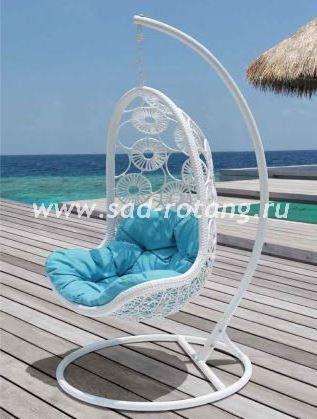 """Подвесное кресло - качели из искусственного ротанга """"Flowers"""""""